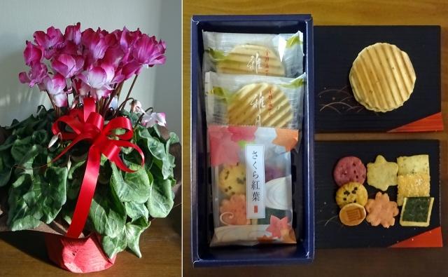 2018正月の花とお菓子