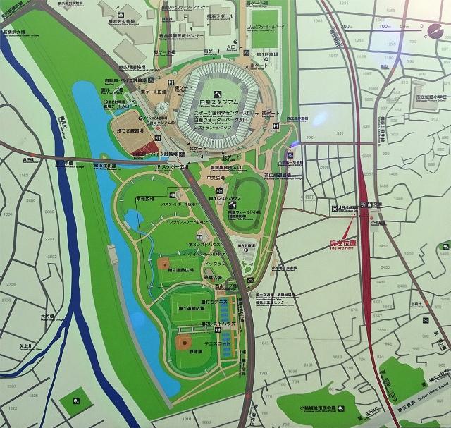 3小机駅周辺案内図