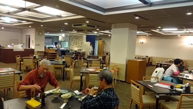 122階の昼食と夕食の会場