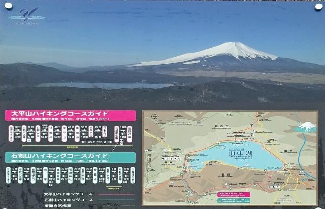 13富士山と山中湖の写真とハイキングコースガイド