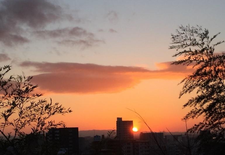 2018-1-1本日の初日の出@雁宿公園