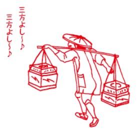 2018-2-22三方よしイラスト