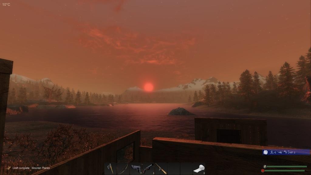 subsistence 湖の夕陽-1