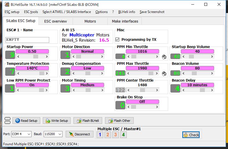 BLHeliSuiteSiLabs ESC Setup_180116_1