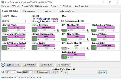 BLHeliSuiteSiLabs ESC Setup_180112_1