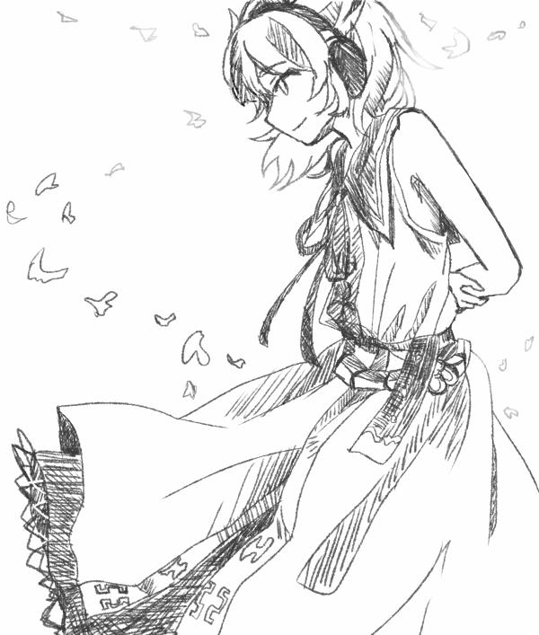 神子さん_線画