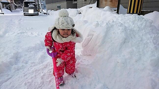 愛娘の除雪 2