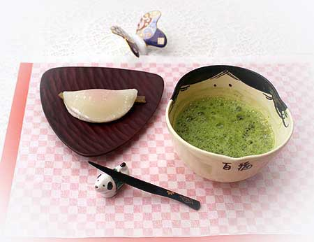 18花びら餅・抹茶