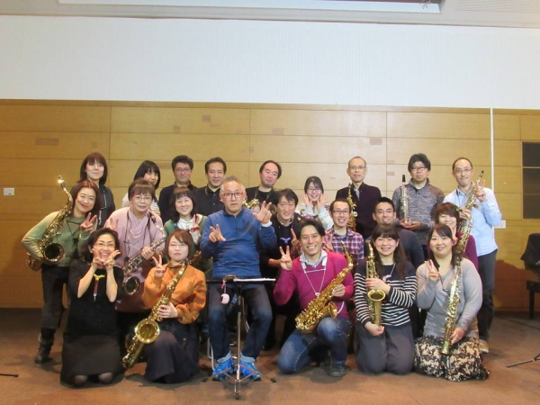 Thats Sax Phil with Kunisue Sensei