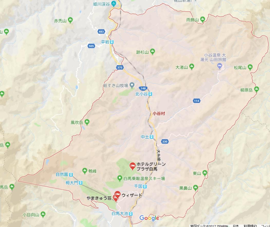 小谷村map