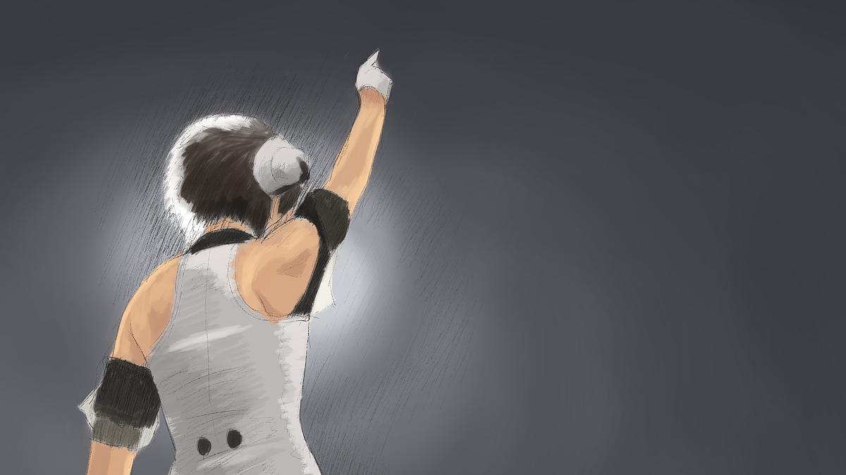 アイドルマスターの平田宏美を描く スケッチ