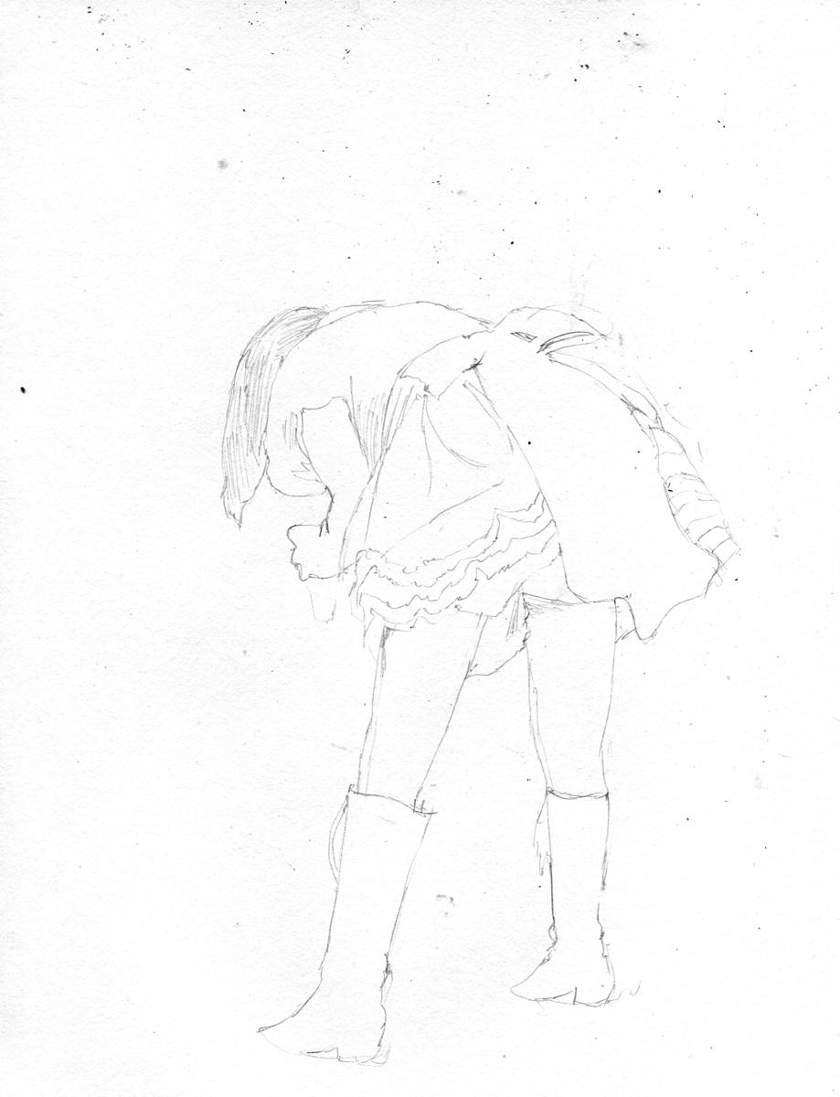 アイドルマスターの浅倉杏美を描く スケッチ