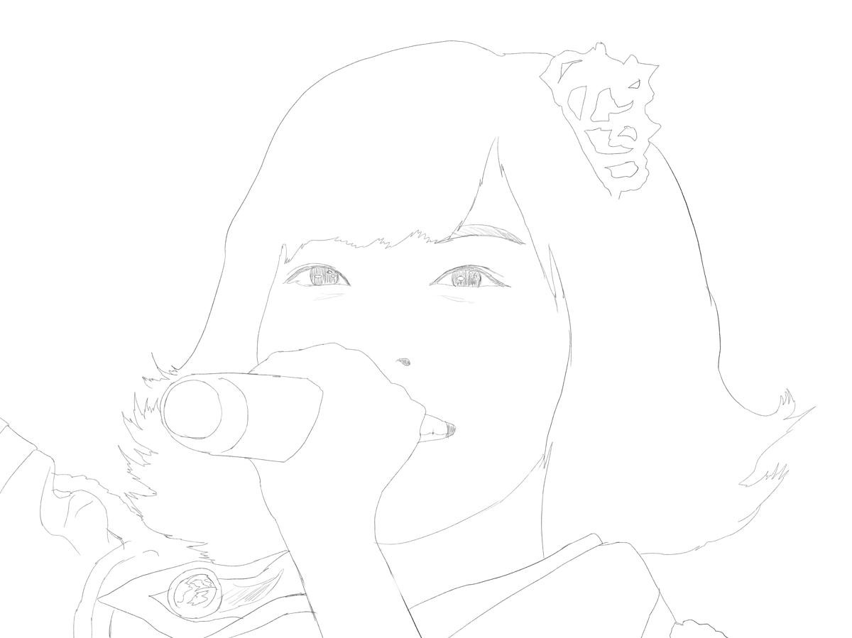 アイドルマスターのライブの原紗友里を描く トレース