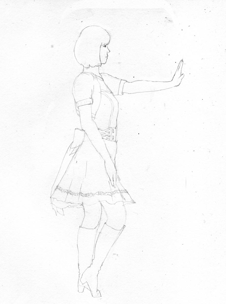 アイドルマスターの中村繪里子を描く イメージ