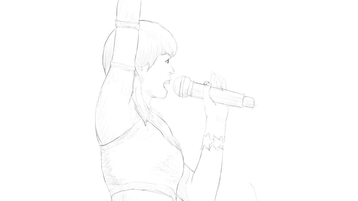 アイドルマスターの長谷川明子を描く スケッチ