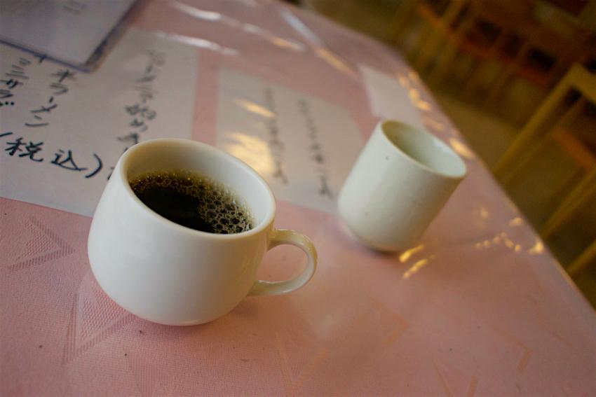 けやき会館@真岡市荒町 サービスのコーヒー