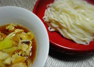 肉汁うどん@稲庭風生うどん調理例 大成食品株式会社 製麺技能士謹製麺