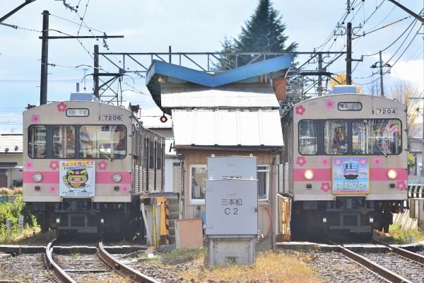 2017年11月16日 福島交通飯坂線 笹谷 7000系7105+7206編成