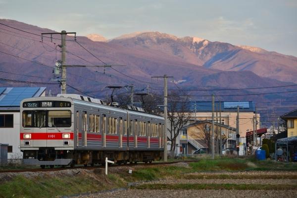 2017年11月27日 上田電鉄別所線 三好町~赤坂上 1000系1001編成