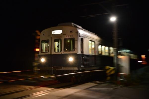 2017年12月8日 上田電鉄別所線 塩田町~中塩田 7200系7255編成
