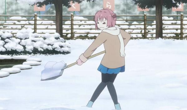 雪かき ゆるゆり 重労働
