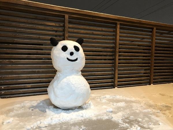 2018年冬 函館は大雪 「パンダだるま」作ったよ2