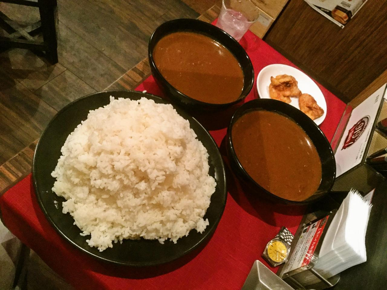 ハンバーグ&カレー919新橋駅SL広場前店(チョモランマカレーへの挑戦)