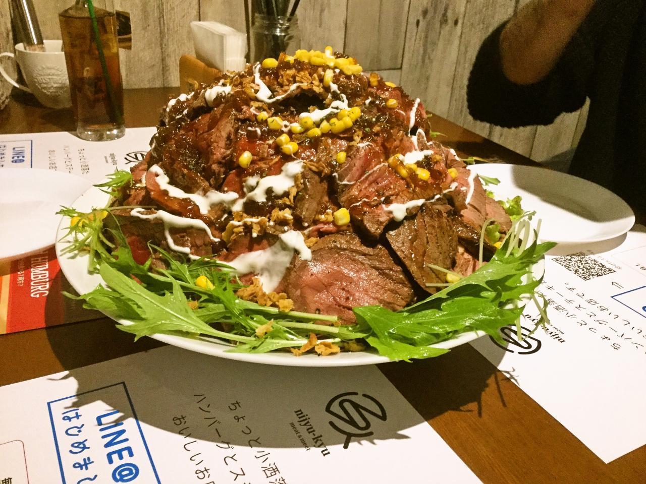 nijyu-kyu(超特大ローストビーフ丼)