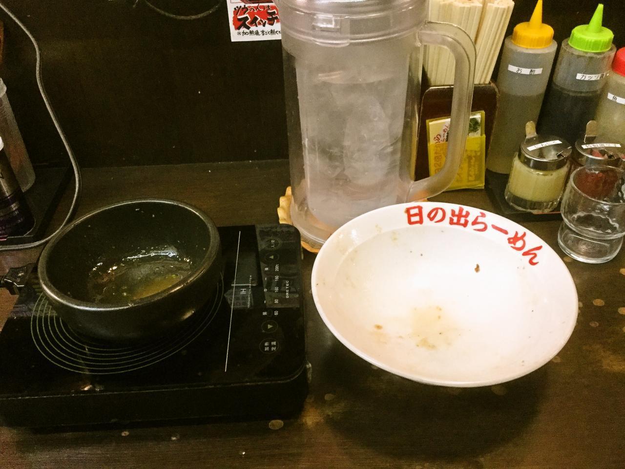 日の出らーめん桜木町本店(スペアリブ剛つけ麺大盛り)