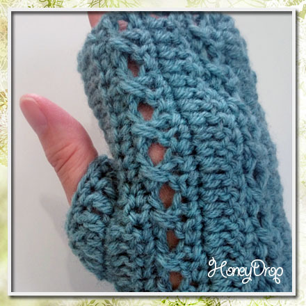 かぎ針編みのハンドウォーマー親指