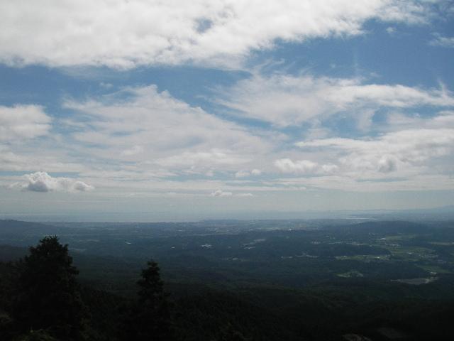 青山高原から松阪市方面を望む201708