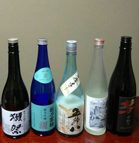 180105 日本酒飲み比べ