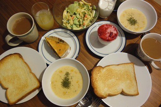 ある日の朝食 DSC00559
