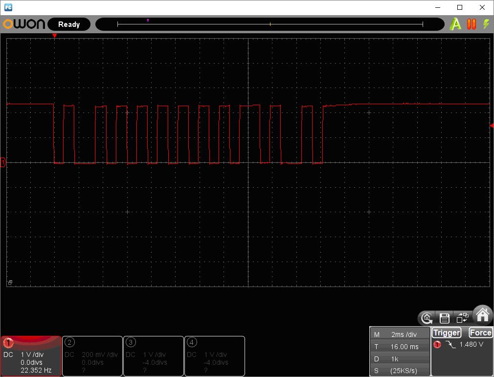 アンパンマン電動レールでGO!GO!DX(マイコン換装)事例3リモコン波形2