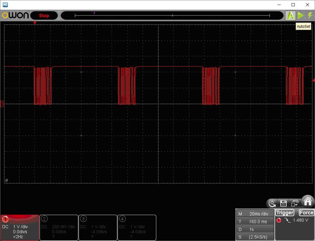アンパンマン電動レールでGO!GO!DX(赤外線コード変更)リモコン波形1