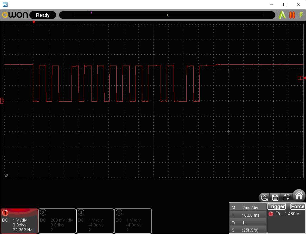 アンパンマン電動レールでGO!GO!DX(赤外線コード変更)リモコン波形3