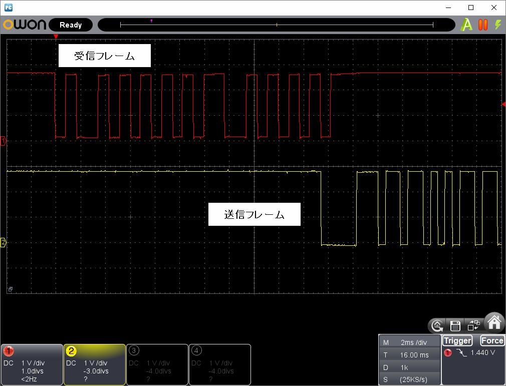 アンパンマン電動レールでGO!GO!DX(赤外線コード変更)動作時赤外線信号波形2