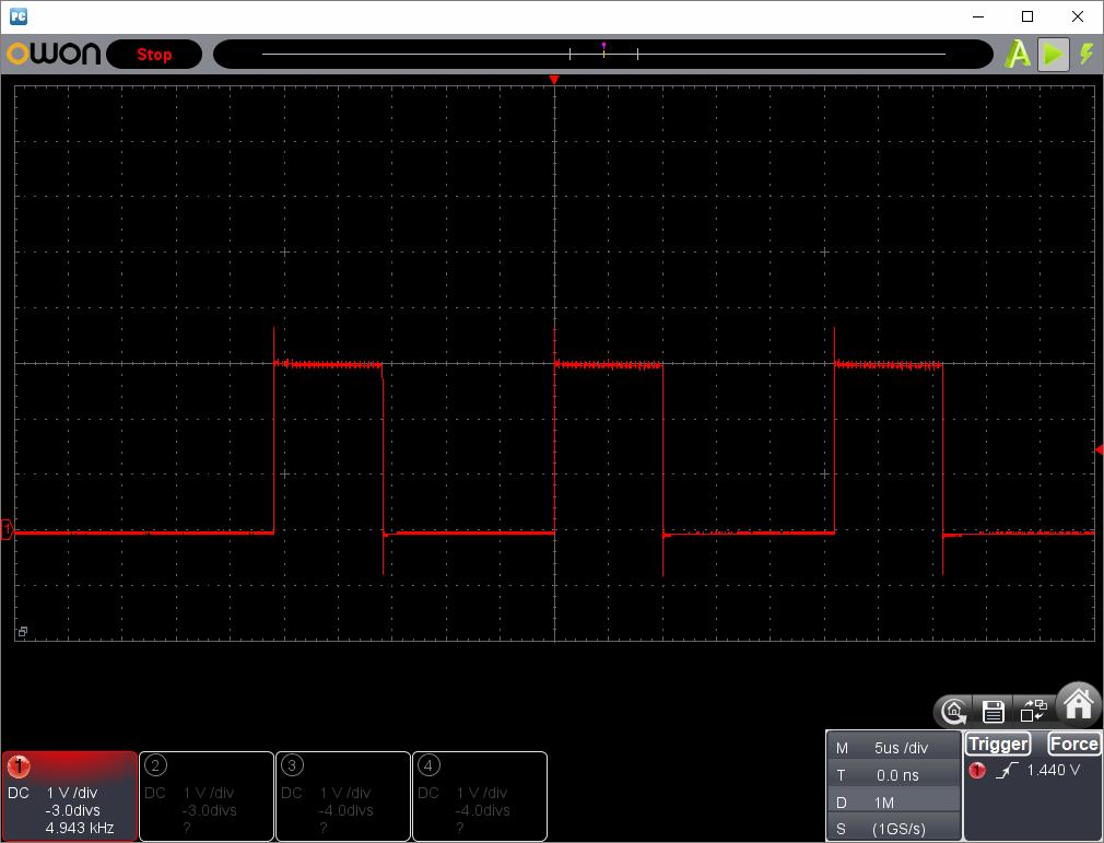 アンパンマン電動レールでGO!GO!DX(クローンリモコン製作)動作時赤外線信号波形1