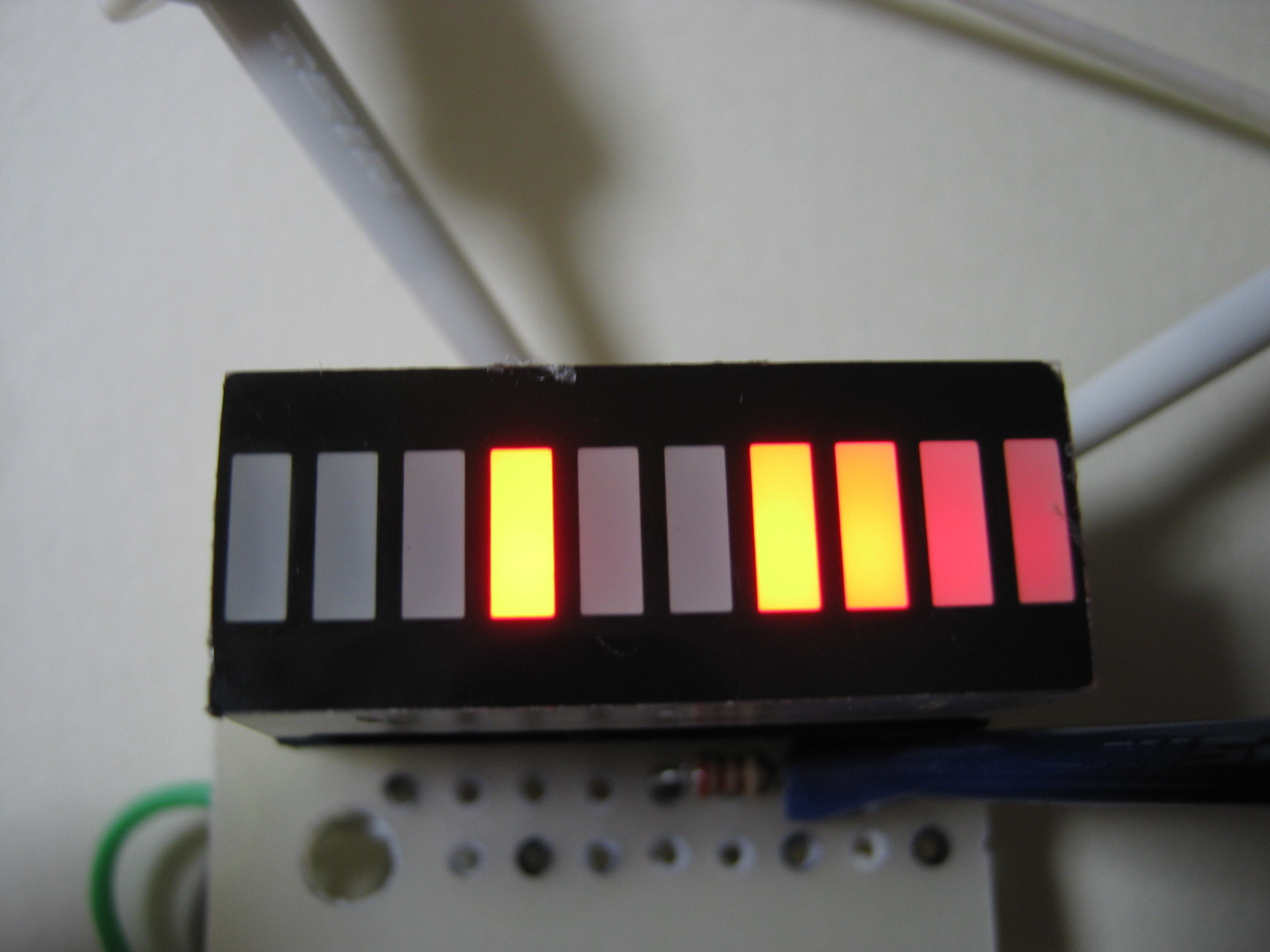 RFチェッカー表示部の製作(ATtiny13A版)表示例27MHzTX2