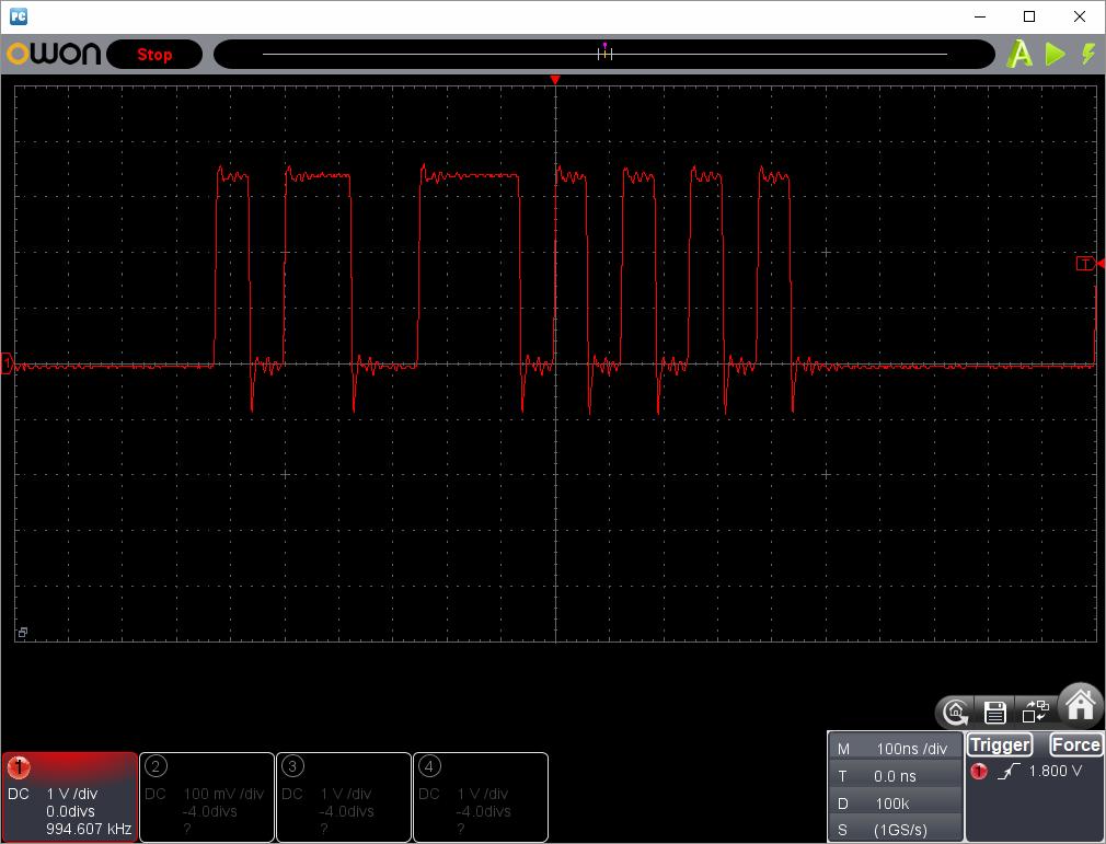 アンパンマンことばずかん(センサーピン半田クラック)センサー波形ピン2(SD0)