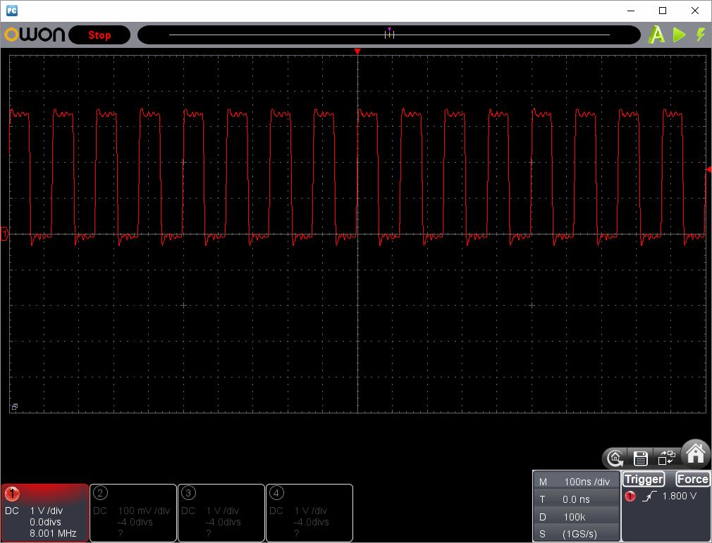 アンパンマンことばずかん(センサーピン半田クラック)センサー波形ピン3(CLK)