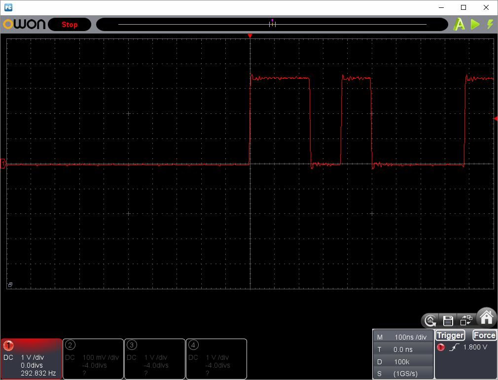 アンパンマンことばずかん(センサーピン半田クラック)センサー波形ピン4(CMD)