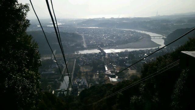 岩国城ロープウェイ眺望
