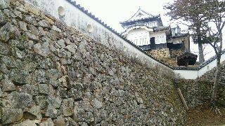 松山天守の石垣