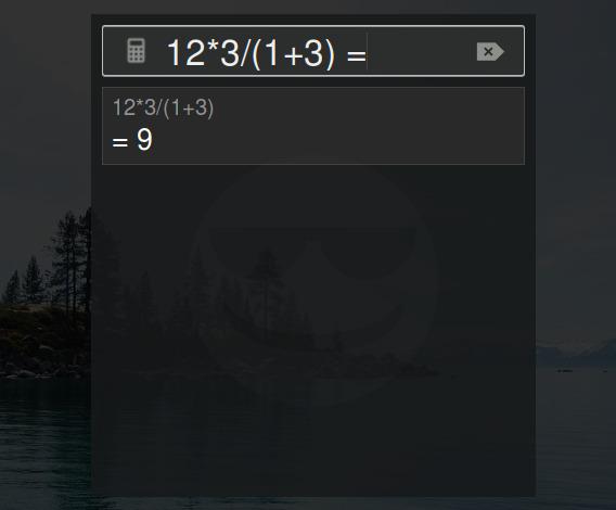 Google Calculator GNOME拡張機能 Google電卓 ダイアログの表示