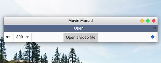 Movie Monad Ubuntu 動画プレイヤー ファイルを開く
