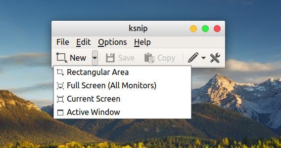 ksnip Ubuntu スクリーンショット 領域の選択