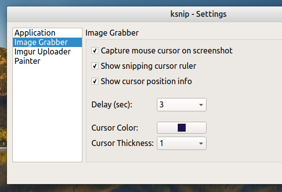 ksnip Ubuntu スクリーンショット オプション