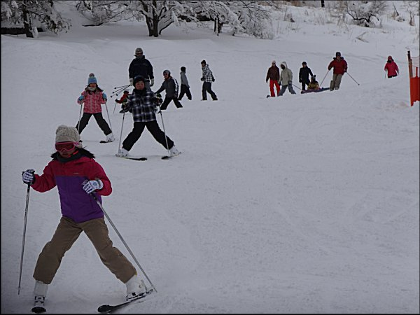 19子供、スキー教室