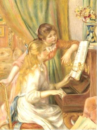 ルノアール ピアノを引く少女たち